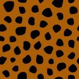 Modello senza cuciture semplice con la stampa del leopardo Illustrazione di vettore illustrazione vettoriale