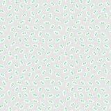 Modello senza cuciture semplice con le foglie fatte nello stile piano lineare su fondo leggero Immagini Stock Libere da Diritti