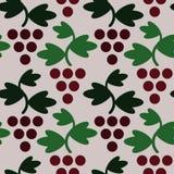 Modello senza cuciture semplice dell'uva geometrica Fotografia Stock Libera da Diritti