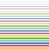 Modello senza cuciture semplice delle linee colorate Fotografie Stock Libere da Diritti