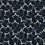 Modello senza cuciture semplice di vettore di forma della stella Fondo descritto Struttura di ripetizione senza cuciture Fotografia Stock
