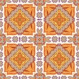 Modello senza cuciture splendido della rappezzatura dalle mattonelle marocchine, ornamenti Immagini Stock