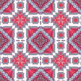 Modello senza cuciture splendido della rappezzatura dalle mattonelle marocchine, ornamenti Fotografie Stock