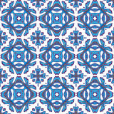 Modello senza cuciture splendido della rappezzatura dalle mattonelle marocchine variopinte, ornamenti Immagine Stock Libera da Diritti