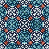 Modello senza cuciture splendido marocchino, mattonelle portoghesi, Azulejo, ornamenti Può essere usato per la carta da parati, i Immagini Stock Libere da Diritti
