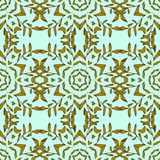Modello senza cuciture stilizzato del mosaico d'annata Fotografia Stock