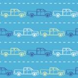 Modello senza cuciture a strisce con i camioncini Fotografie Stock Libere da Diritti