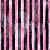 Modello senza cuciture a strisce del nero e di rosa illustrazione vettoriale