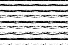 Modello senza cuciture a strisce disegnato a mano Struttura approssimativa dell'inchiostro orizzontale monocromatico con le bande Fotografie Stock