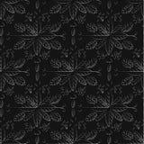 Modello senza cuciture su un fondo nero Ornamentale di lusso Fotografia Stock Libera da Diritti