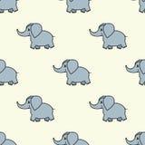 Modello senza cuciture sveglio del bambino con gli elefanti Modello senza cuciture del bambino con gli elefanti dipinti Modello s Fotografia Stock Libera da Diritti