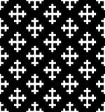 Modello senza cuciture trasversale monocromatico Illustrazione di vettore di Black&white Fotografie Stock