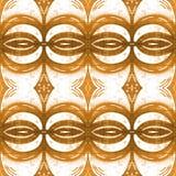 Modello senza cuciture tribale astratto africano struttura alla moda moderna Ripetizione delle mattonelle geometriche con il romb Immagine Stock