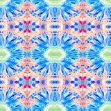 Modello senza cuciture tribale astratto caleidoscopico struttura alla moda moderna Ripetizione delle mattonelle geometriche Stamp Immagini Stock Libere da Diritti