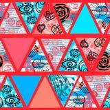 Modello senza cuciture tropicale del batik africano Decorat astratto di estate royalty illustrazione gratis