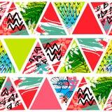 Modello senza cuciture tropicale del batik africano Decorat astratto di estate illustrazione vettoriale