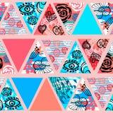 Modello senza cuciture tropicale del batik africano Decorat astratto di estate illustrazione di stock