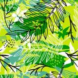 Modello senza cuciture tropicale del batik esotico etnico Coroful astratto illustrazione vettoriale