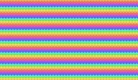 Modello senza cuciture variopinto delle ondulazioni di vettore Fotografie Stock