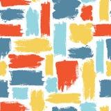 Modello senza cuciture variopinto di vettore con i colpi della spazzola Fantasia di estate Colore dell'arcobaleno su fondo bianco illustrazione di stock