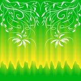 Modello senza cuciture variopinto per gli ambiti di provenienza e la progettazione Colore verde giallo delicato Estratto floreale royalty illustrazione gratis