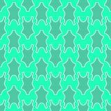 Modello senza cuciture verde blu del fondo del costume da bagno di estate di modo della donna illustrazione di stock