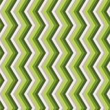 Modello senza cuciture verde di zigzag Immagini Stock