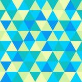 Modello senza cuciture, verde e blu del triangolo geometrico astratto Fotografie Stock