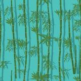 Modello senza cuciture verticale di bambù Fotografia Stock Libera da Diritti