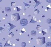 Modello senza cuciture viola geometrico astratto 3d Fotografie Stock Libere da Diritti