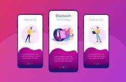 Modello senza fili dell'interfaccia del app di connettività illustrazione di stock
