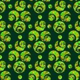 Modello senza fine con gli elementi del semicerchio e del cerchio su fondo verde chiaro Fotografia Stock