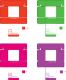 Modello Set1 della scatola dei colori Fotografia Stock