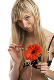 Modello sexy della biancheria intima Fotografie Stock Libere da Diritti