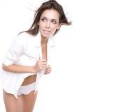 Modello sexy di fascino del brunette Immagini Stock