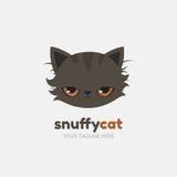 Modello Snuffy di logo del gatto Vettore Fotografia Stock Libera da Diritti