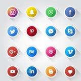 Modello sociale di progettazione dell'icona di media royalty illustrazione gratis