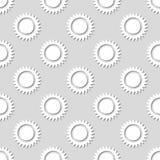 Modello soleggiato senza cuciture Illustrazione di vettore Fotografia Stock Libera da Diritti