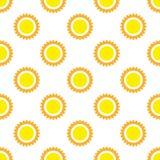 Modello soleggiato senza cuciture Illustrazione di vettore Immagini Stock Libere da Diritti