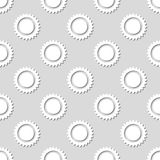 Modello soleggiato senza cuciture Illustrazione di vettore Fotografie Stock