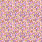 Modello a spirale astratto senza cuciture. Illustrazione di vettore Immagine Stock