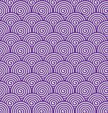 Modello a spirale porpora senza cuciture per fondo astratto illustrazione di stock