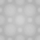 Modello a spirale senza cuciture astratto di progettazione circolare Immagini Stock
