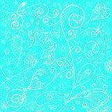 Modello squisito romantico elegante su un fondo blu, gelido illustrazione di stock