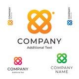Modello stabilito del fiore di Logo Beautiful Modern Identity Brand dell'icona di concetto semplice di simbolo Fotografia Stock Libera da Diritti