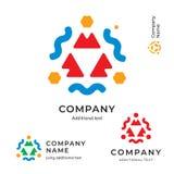 Modello stabilito della natura di Logo Modern Identity Beautiful Brand dell'icona di concetto commerciale astratto etnico di simb Fotografia Stock Libera da Diritti