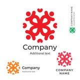 Modello stabilito di concetto tradizionale dell'icona di simbolo di marca di Logo Stylish Folk Identity Beauty del fiore dell'orn Fotografia Stock Libera da Diritti