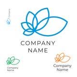 Modello stabilito di contorno del fiore di concetto moderno di Logo Identity Brand Icon Symbol Fotografia Stock Libera da Diritti