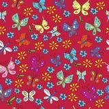 Modello Stampa-scandinavo con le farfalle fotografia stock