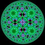 Modello stereoscopico circolare di frattale Fotografie Stock Libere da Diritti